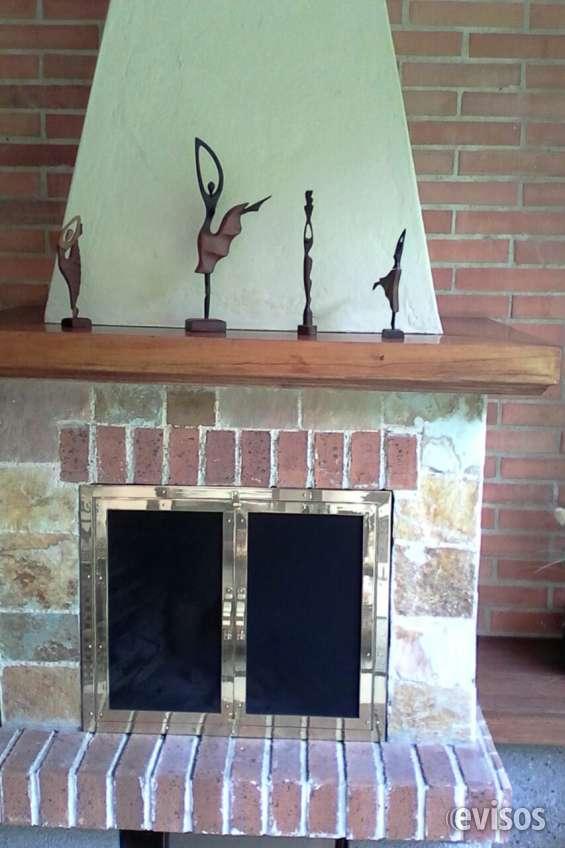 Fantasticas puertas para chimeneas en bronce hierro acero inoxidable