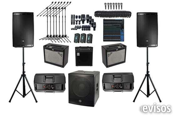 Eventos de sonido en vivo e iluminación. audio mad