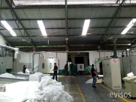 Galpon industrial y fabrica de guata en poliester