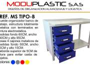 Mesa De Oficina Moduplastic Ref. Ms Tipo - B