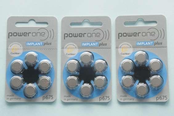 Pilas para implante coclear power one