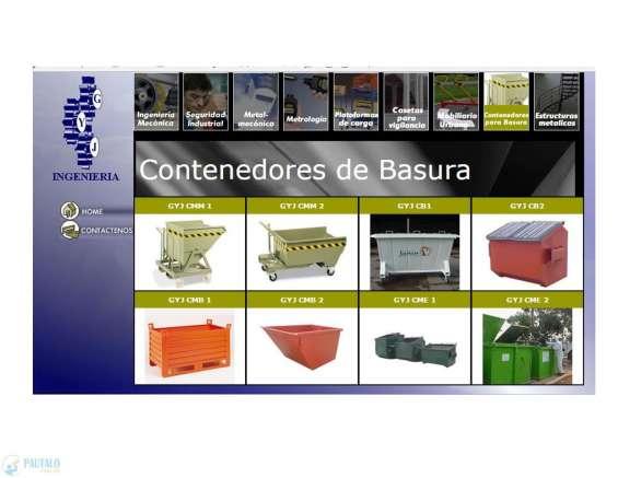 Contenedores metálicos para basura y residuos sólidos