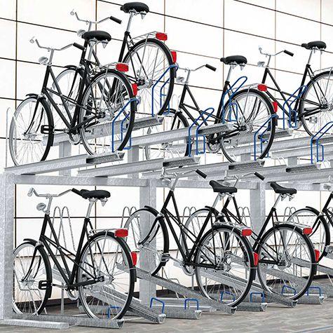Estacionamientos para bicicletas verticales y horizontales