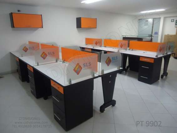 Venta y fabricación de muebles y divisiones para oficina