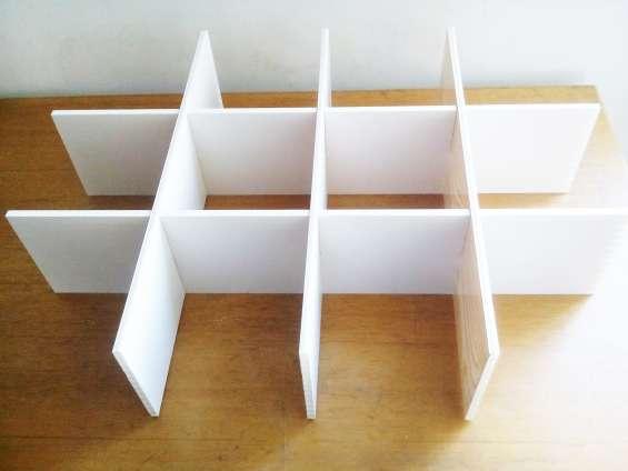 Organizador 12 divisiones plástico pvc de cajones y obsequio