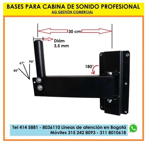 Bases a pared para bafles, soportes altavoz, parlantes sonido profesional