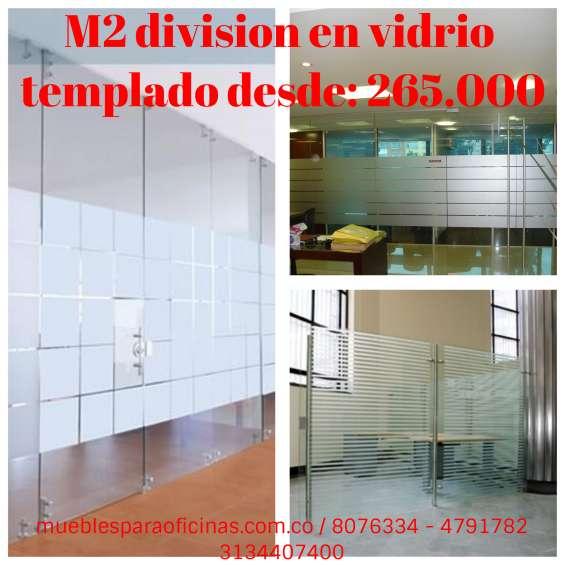 Divisiones en vidrio