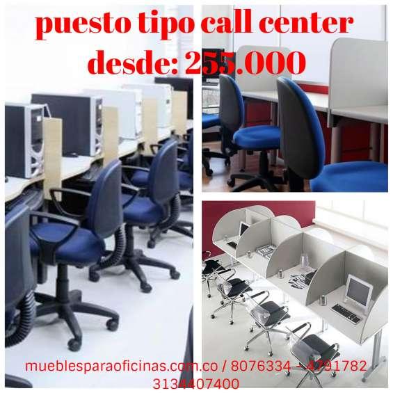 Puesto tipo call center