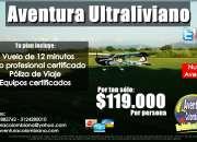 Cumple tu sueño de volar en ultraliviano a 200 metros de altura!