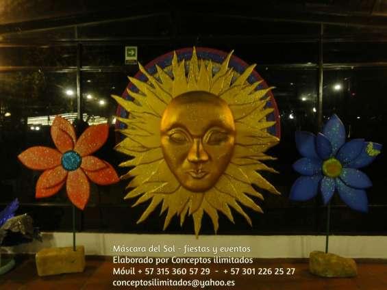 Escultura de mascara fiestas eventos