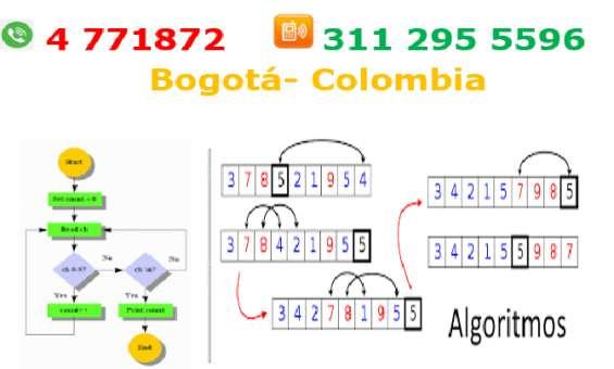 Algoritmos y lógica de programación, clases, asesoría, refuerzos pensamiento