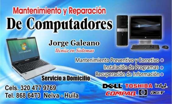 Servicio tecnico de computadores en neiva