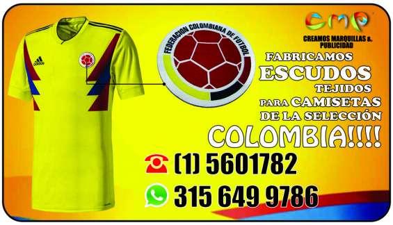 Fabricamos escudos para camisetas selección colombia