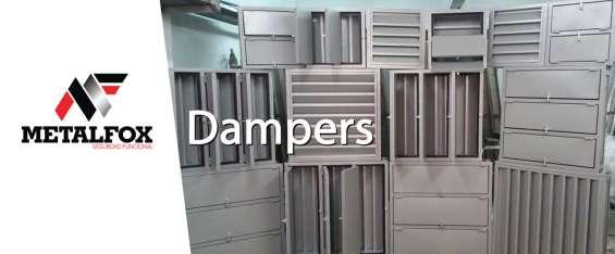 Dampers cortafuego - pasamuros