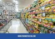 Góndolas y estanterías de exhibición para supermercado