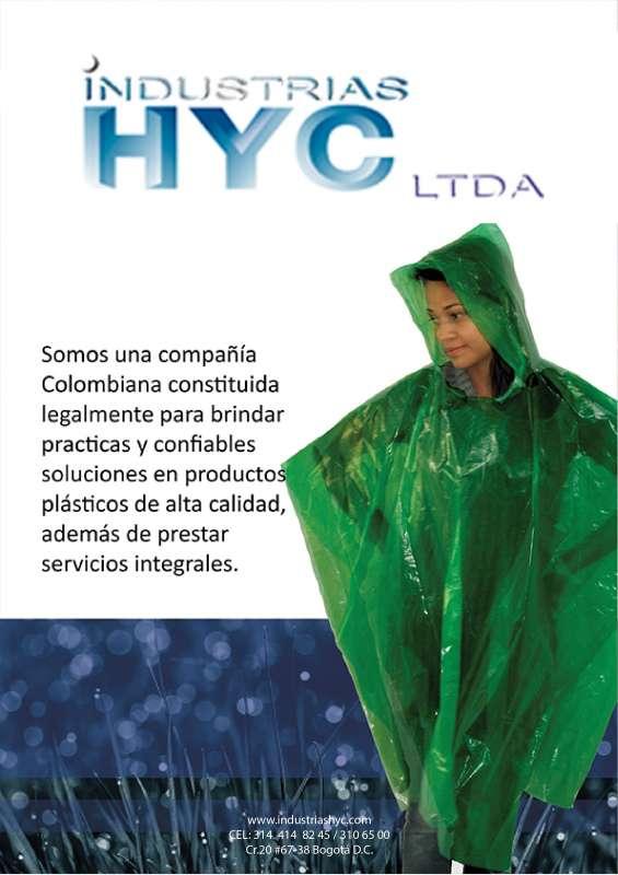 Capas plasticas para lluvia