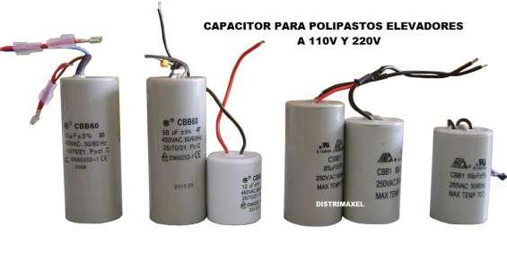 Capacitores para polipasto