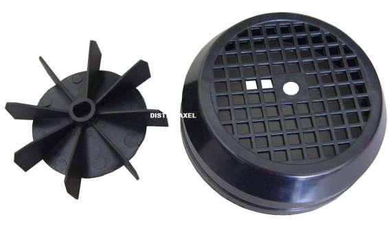 Aspa y tapa ventilador para polipasto