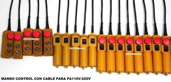 Mando control con cable para polipasto diferentes referencias