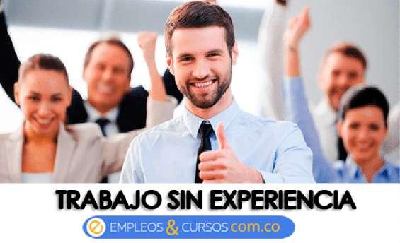 Auxiliares publicitarios sin experiencia (dentro de la empresa)