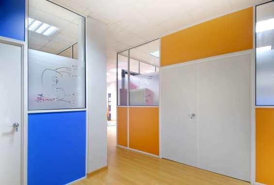 Divisiones para oficina en aluminio