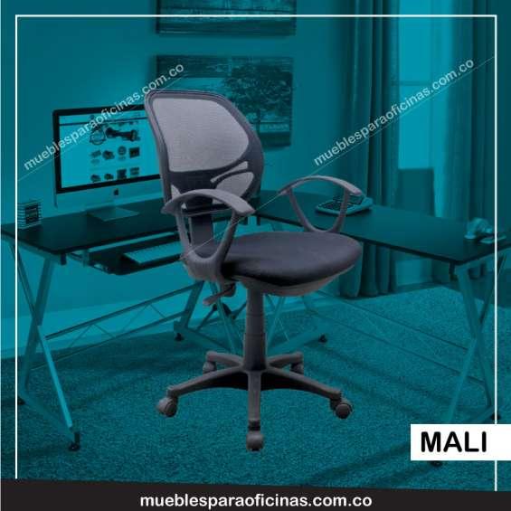Silla giratoria para oficina, sillas fijas o sillas para secretaria